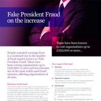 Fake President Fraud on the increase