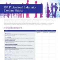 IFA Professional Indemnity Review Matrix
