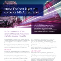 2015: The best is yet to come for M&A Insurance
